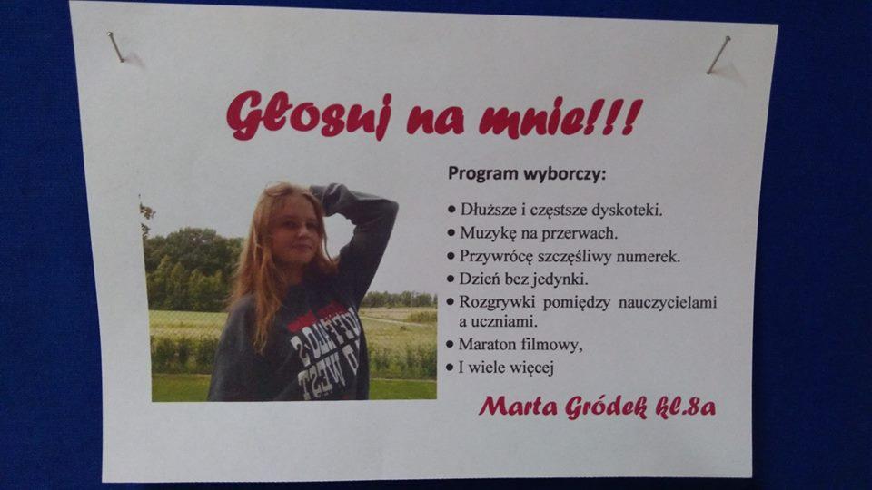 Wybory Do Samorządu Uczniowskiego Zespół Szkolno